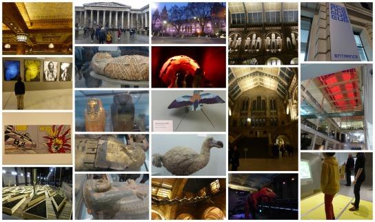 Les musées, La galerie d'Harrods, La Tate Modern,le British Museum, The Naturel History museum, The science Museum