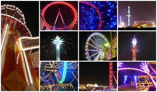 London Eye and winterland in Hyde Park